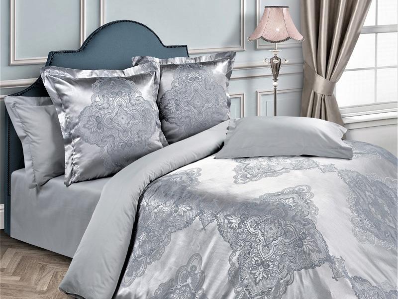 Комплект постельного белья Серебристый узор