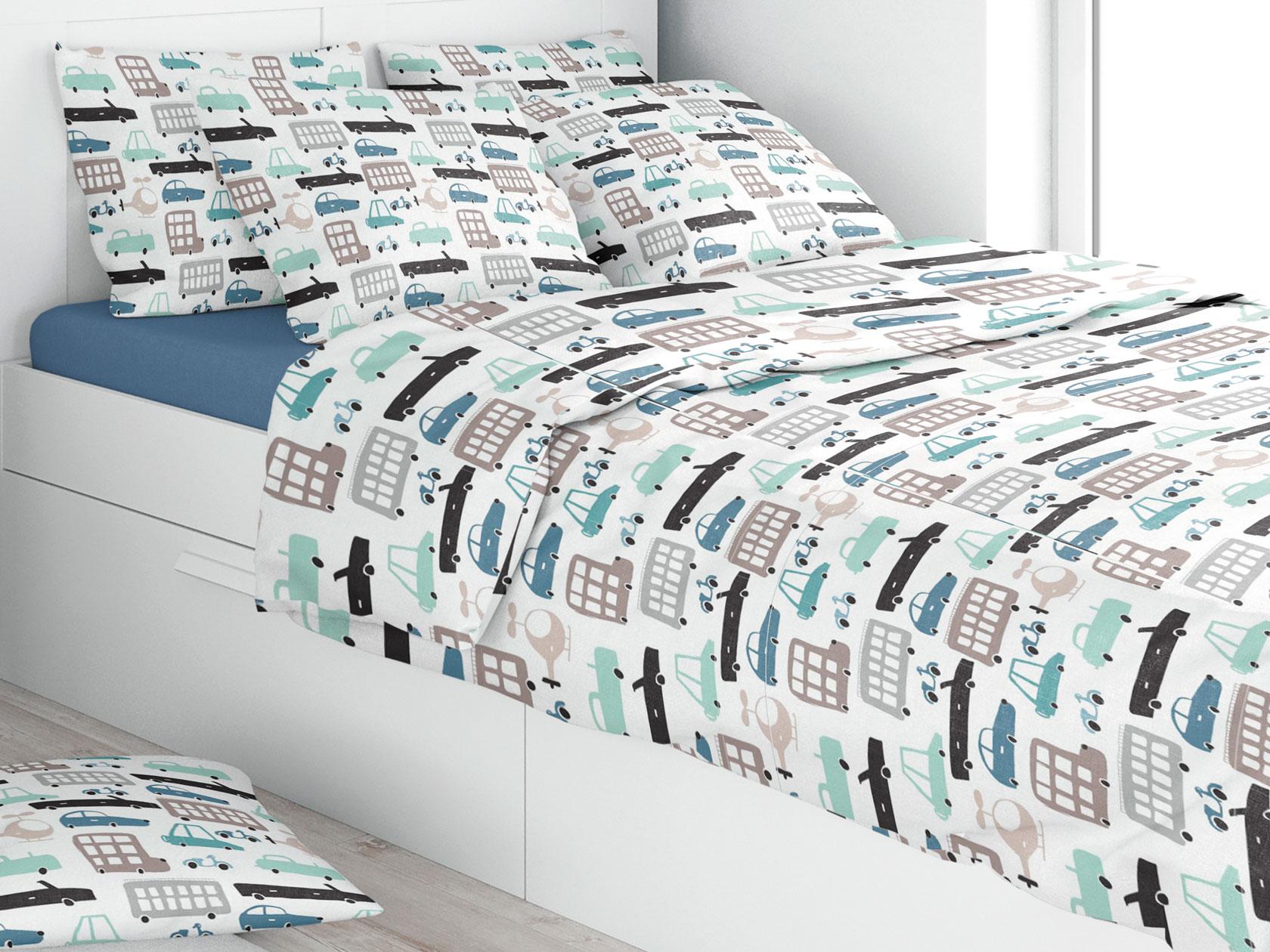 Комплект постельного белья Машинки